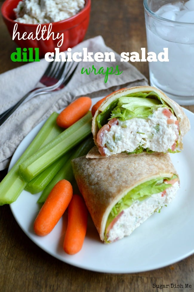 chicken salad wraps make a perfect light lunch or dinner! Healthy Dill ...