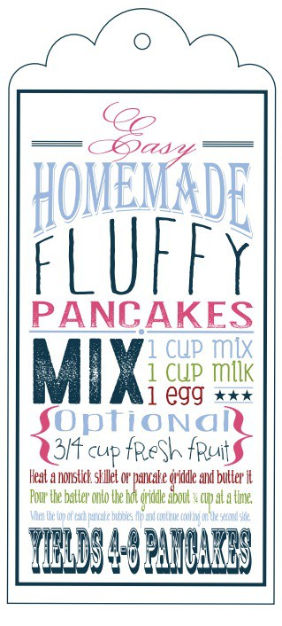 Homemade Fluffy Pancake Mix Free Printable and Recipe