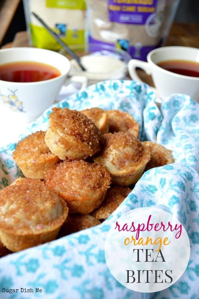 Raspberry Orange Tea Bites