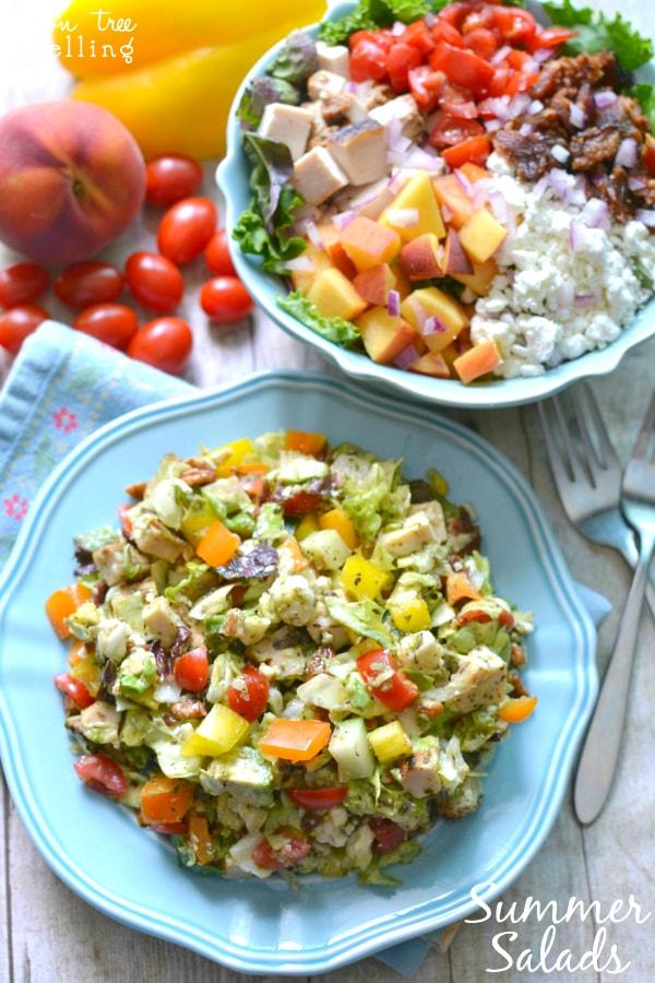 Summer salads via Lemon Tree Dwelling on Meal Plans Made Simple