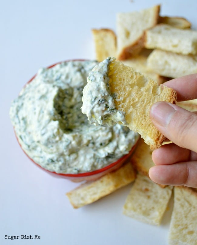 Spinach Dip with Fresh Spinach