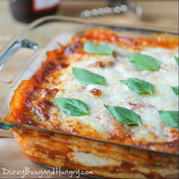 Eggplant Polenta Lasagna via Dizzy, Busy, and Hungry