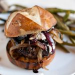 Red Wine Burgers with Caramelized Onions and Goat Cheese via Neighborfood on Meal Plans Made Simple