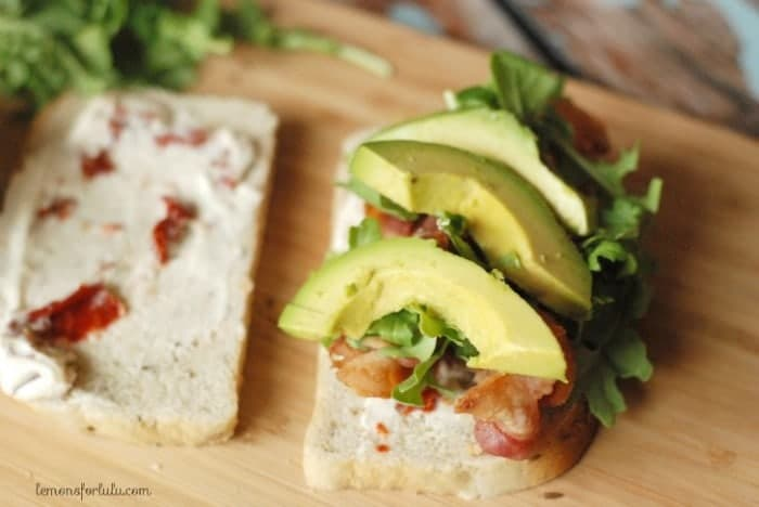 Avocado BLT Sandwiches via Lemons for Lulu on Meal Plans Made Simple