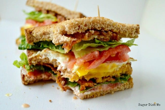 Breakfast BLT with Flavored Cream Cheese and Fried Egg