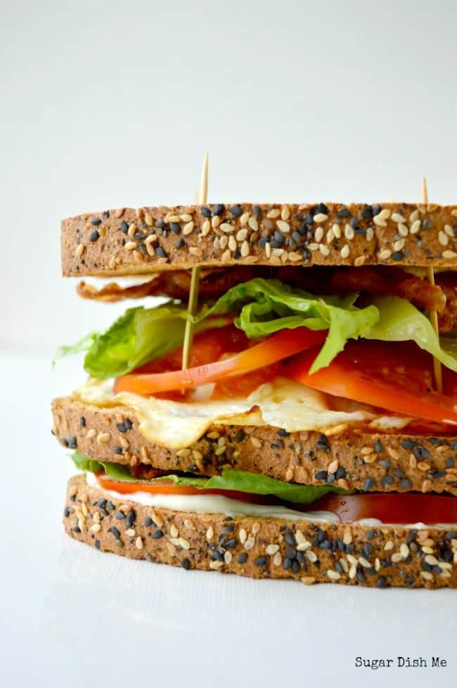 BLT Sandwich with Egg
