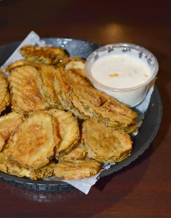Fried Pickles at Buffalo Wings and Rings
