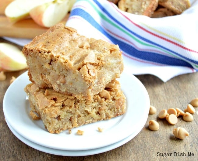 Apple Bars with Peanut Butter