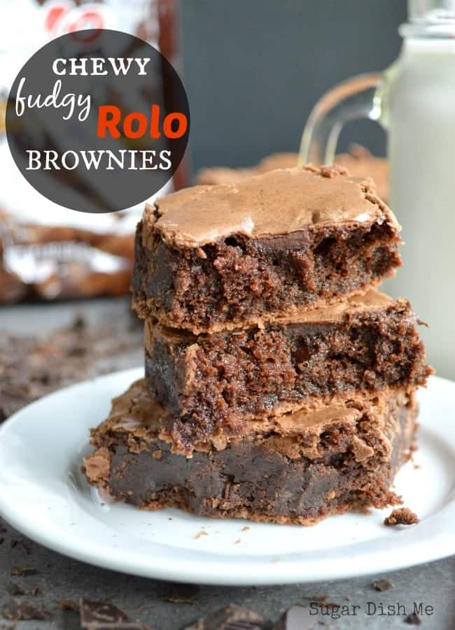 Chewy Fudgy Rolo Brownies