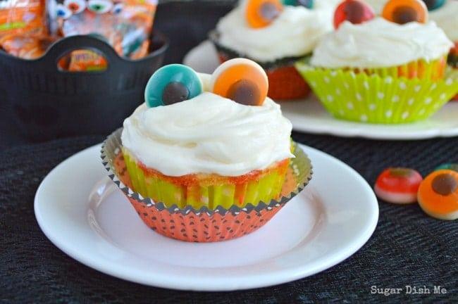 Cherry Vanilla Halloween Cupcakes