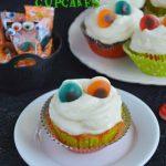 Evil Eye Cherry Cupcakes