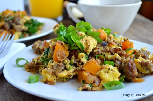 Breakfast Scramble Recipe with sausage and Butternut Squash