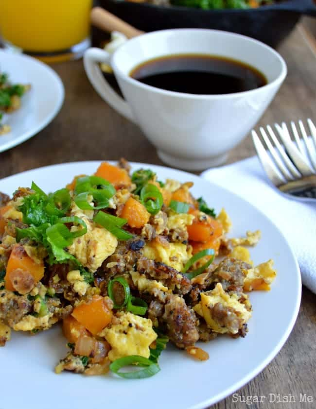 Sausage and Squash Breakfast Scramble