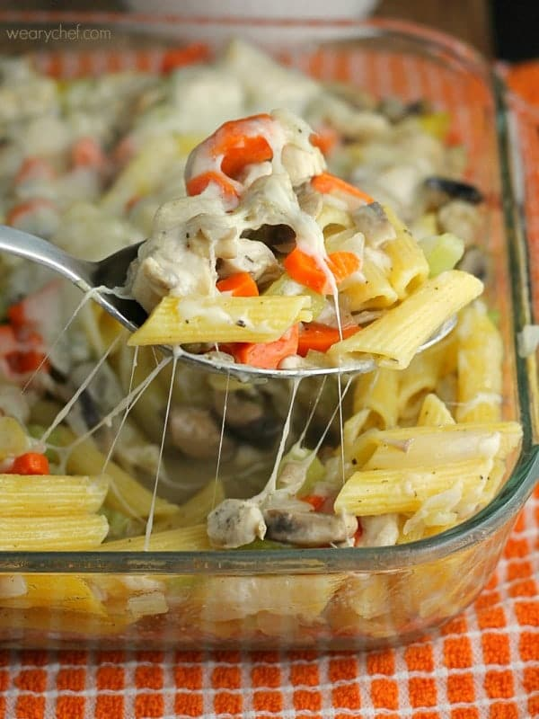 Chicken Noodle Soup Casserole via The Weary Chef on Meal Plans Made Simple