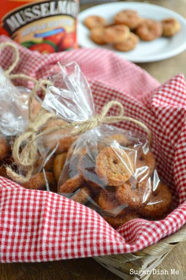 Homemade Cheese Crackers with Apple Butter