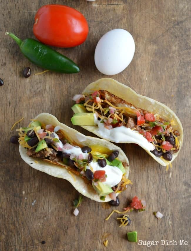 Breakfast Tacos with Sausage