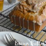 Brown Butter Pumpkin Cake with Vanilla Bourbon Glaze