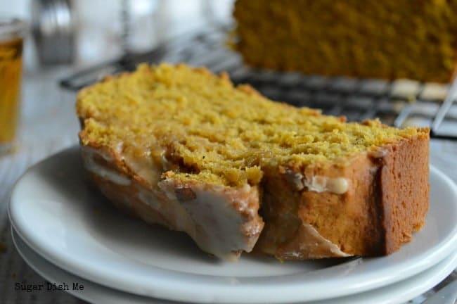 Pumpkin Cake with Vanilla Bourbon Glaze