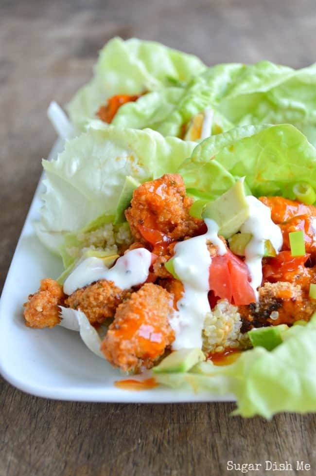 Buffalo Chicken Lettuce Wrap Recipe