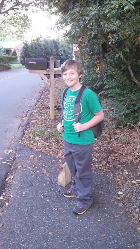 Evan catches the bus