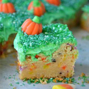 Halloween Sugar Cookie Bars