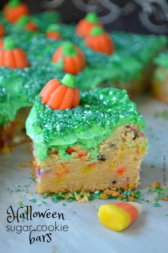 Halloween Sugar Cookie Bar Recipe