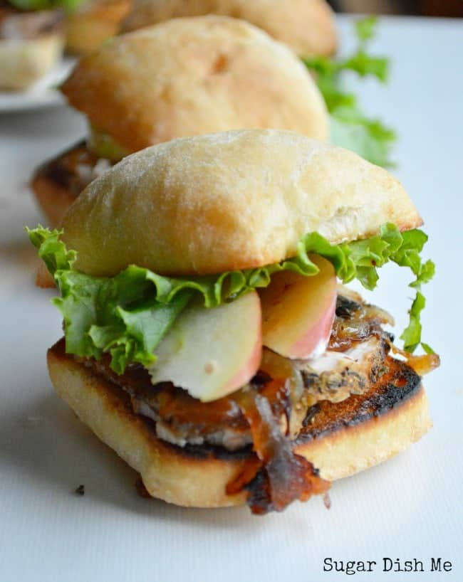 Pork Tenderloin Sandwich Recipe with Caramelized Onions, Apples, and Garlic Aioli