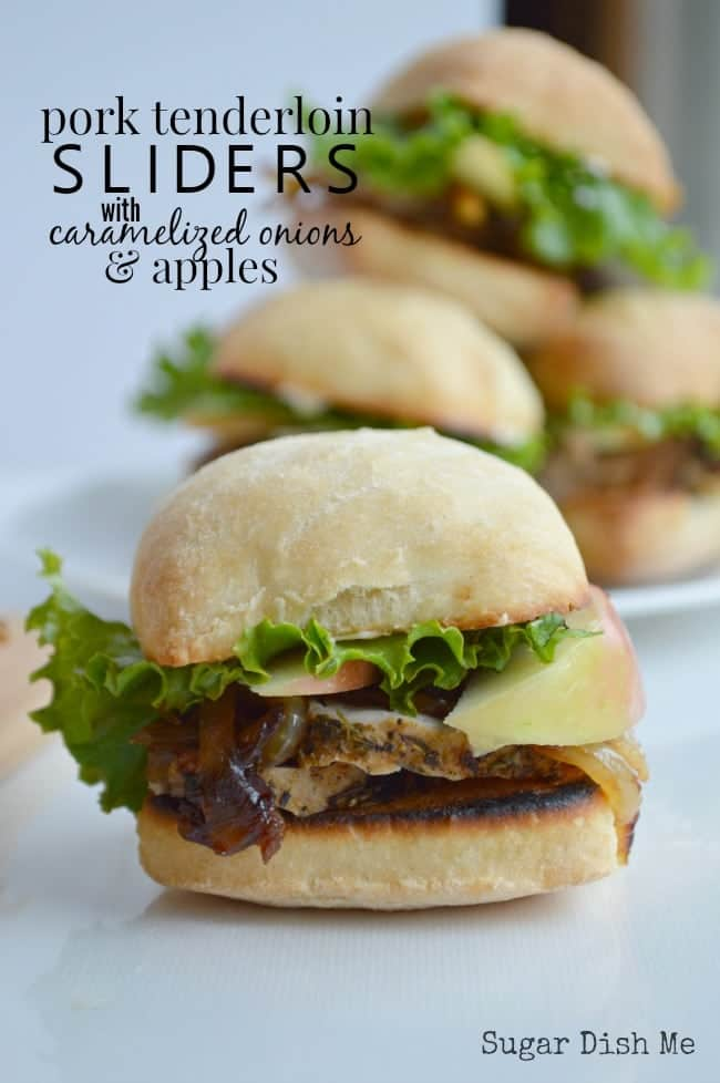 Pork Tenderloin Sliders with Apples and Caramelized Onions