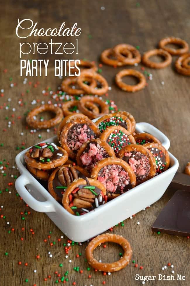 Chocolate Pretzel Party Bites