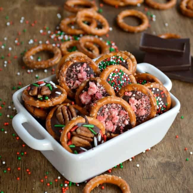 Chocolate Pretzel Party Bites