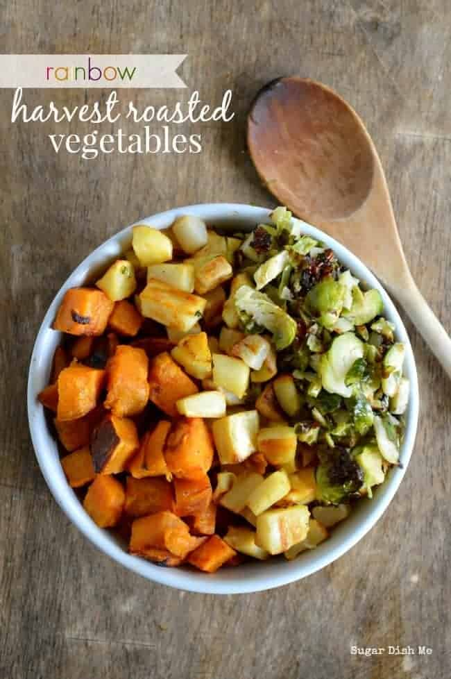 Rainbow Harvest Roasted Vegetables