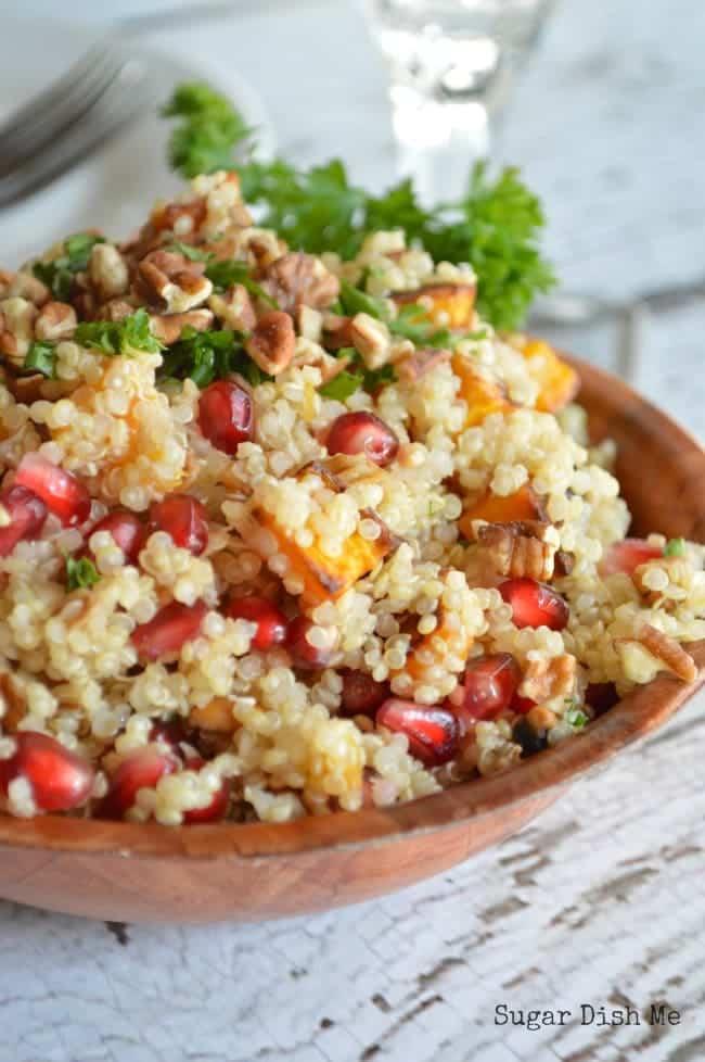 Pomegranate Quinoa Salad Recipe with Orange Maple Vinaigrette