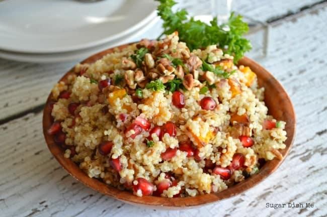 Holiday Quinoa Salad with Orange Maple Vinaigrette
