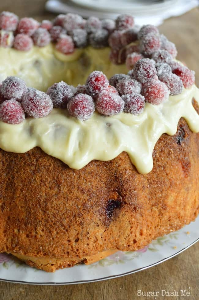White Chocolate Cranberry Pound Cake Recipe