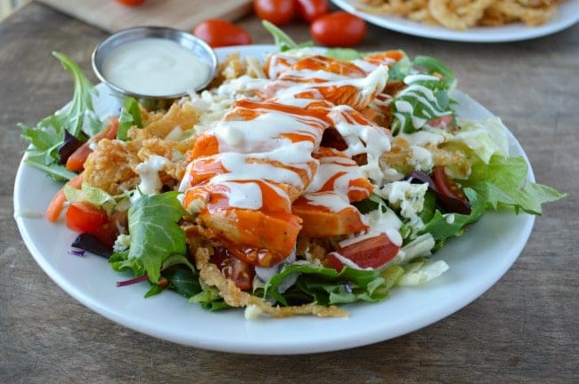 Whenever I order a buffalo chicken salad with grilled chicken instead ...