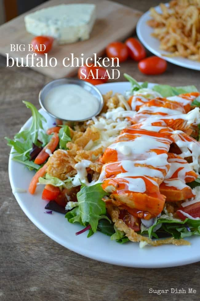 had this Big Bad Buffalo Chicken Salad for dinner again last night ...