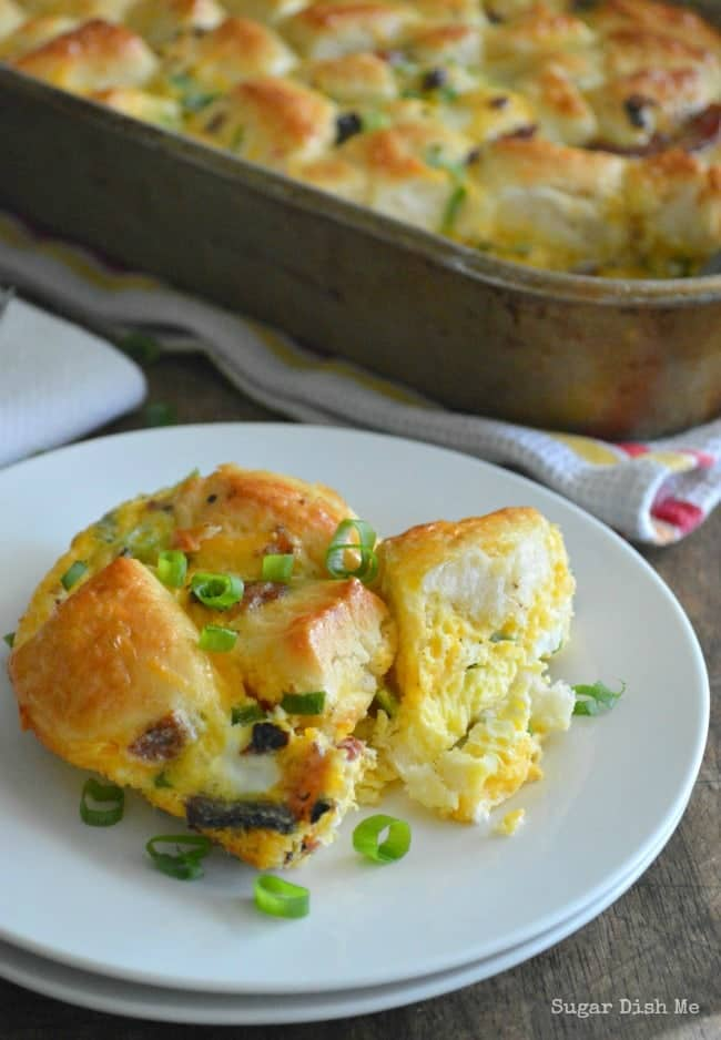 Breakfast Casserole with Refrigerated Biscuits