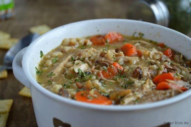 and mushroom and wild rice soup wild rice and mushroom soup creamy ...