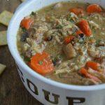 Creamy Chicken Mushroom and Wild Rice Soup