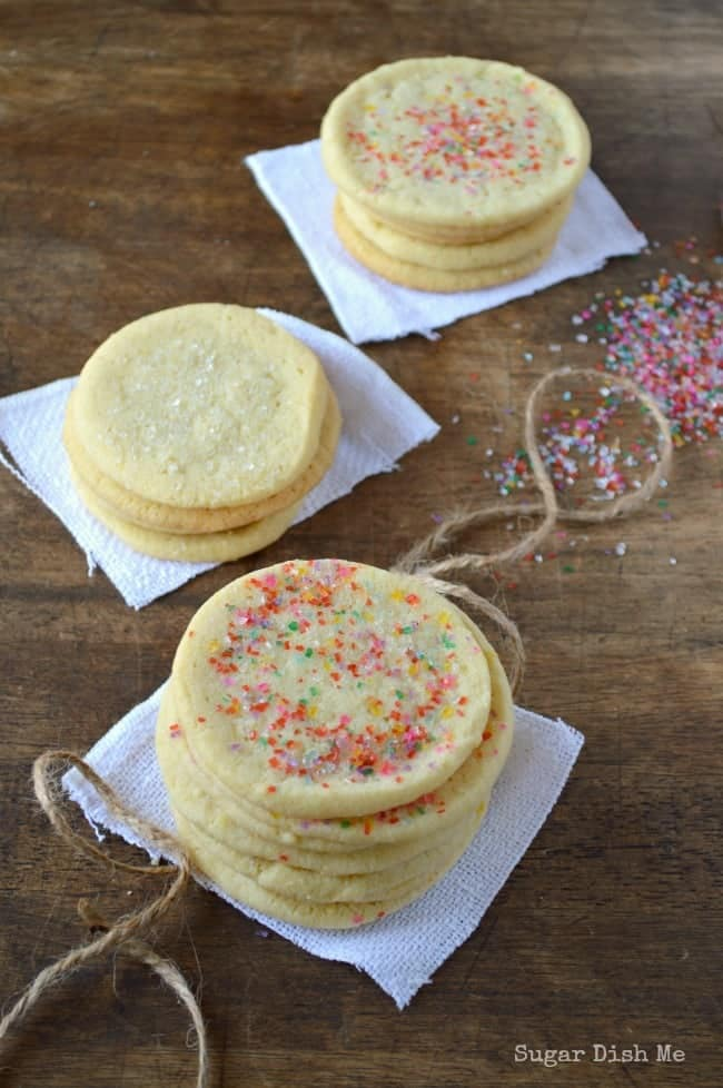 Lemon Ginger Slice-n-Bake Sugar Cookies