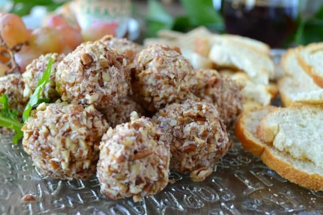 Mini Cheese Balls with Raspberry Preserves and Chipotle Peppers