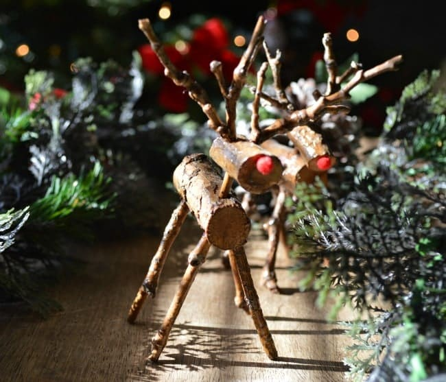 Tiny Hand Carved Reindeer