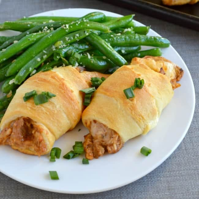 Crescent Roll Up Recipe with BBQ Chicken