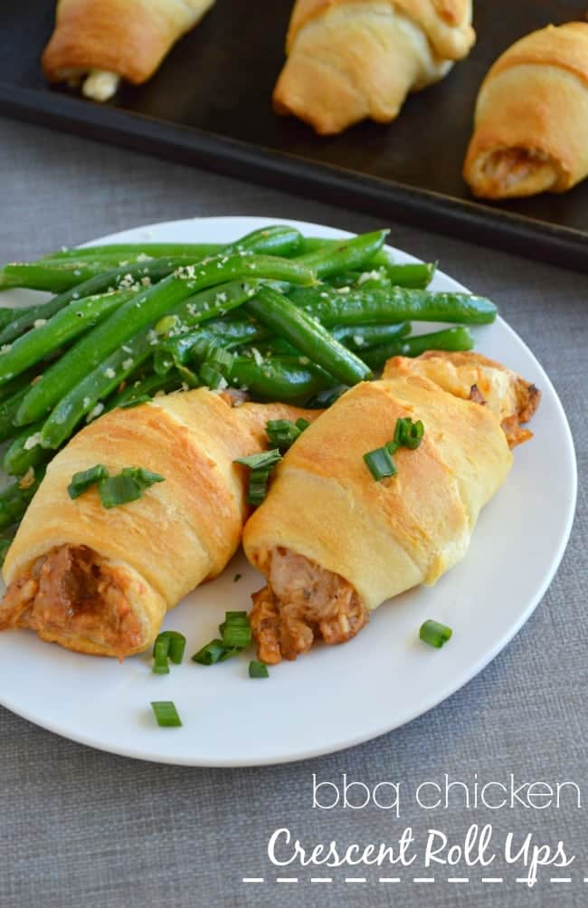 BBQ Chicken Crescent Roll Ups