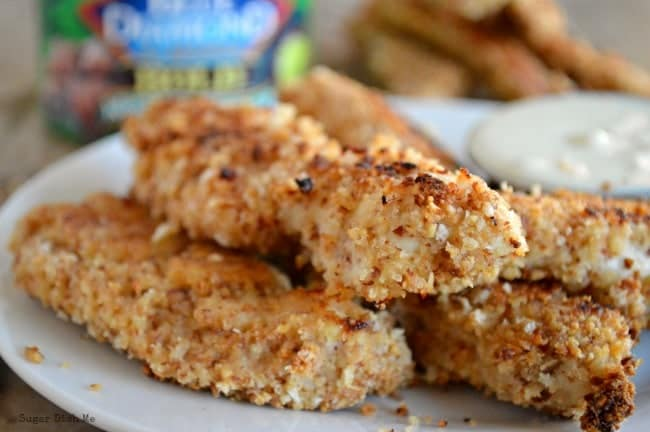 Chicken Fingers with Almond Crust Recipe