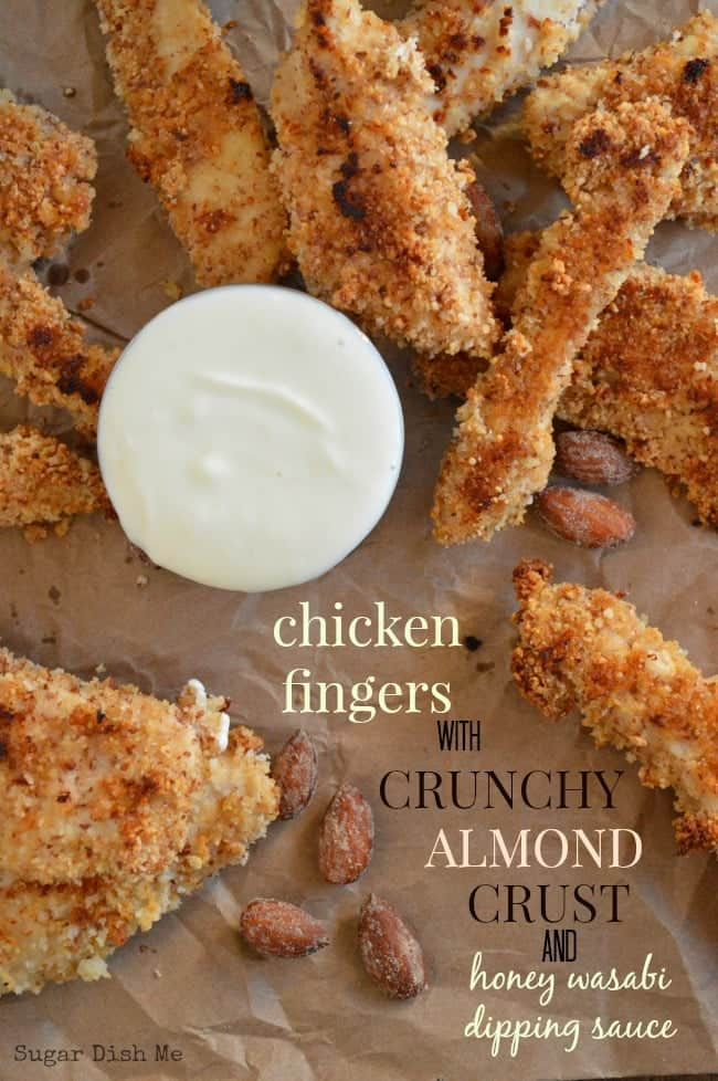 Chicken Fingers with Crunchy Almond Crust