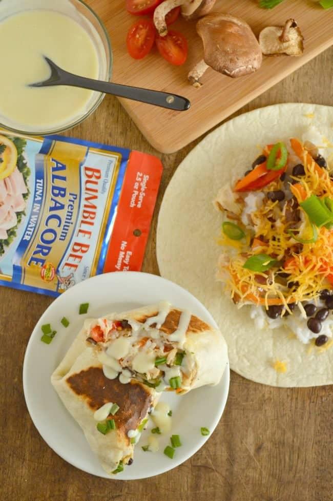 Honey Wasabi Tuna Burrito Recipe