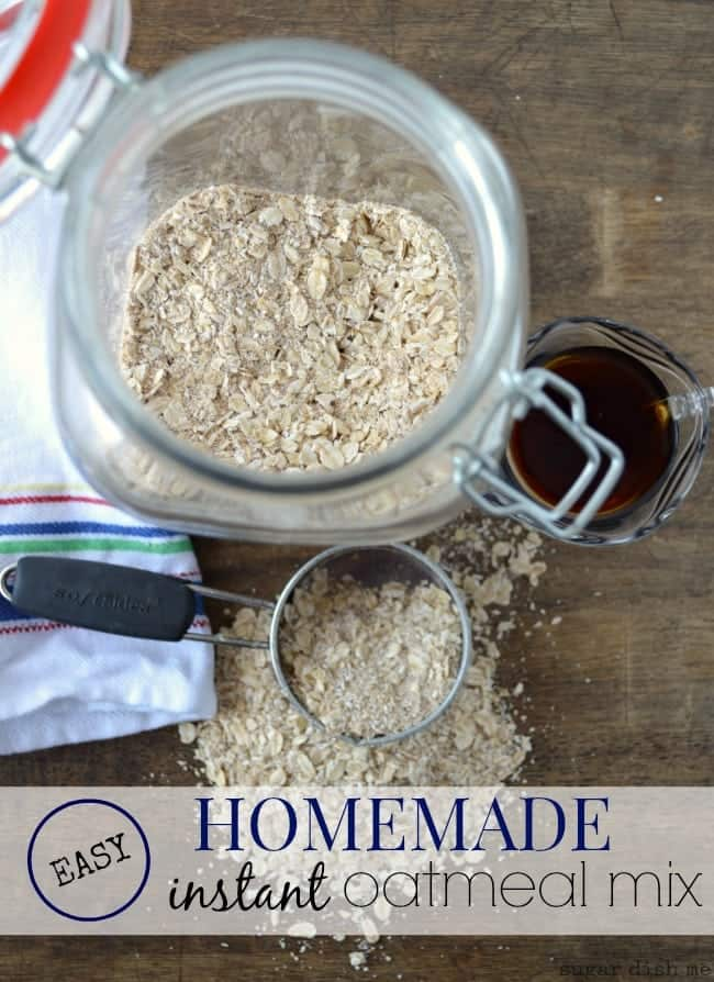 Easy Homemade Instant Oatmeal Mix