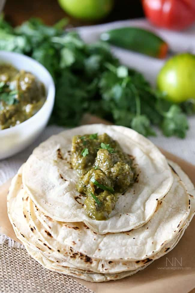 Pork Chile Verde via Nutmeg Nanny
