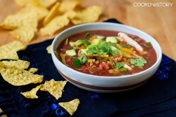 Tortilla Soup Recipe via Cook the Story